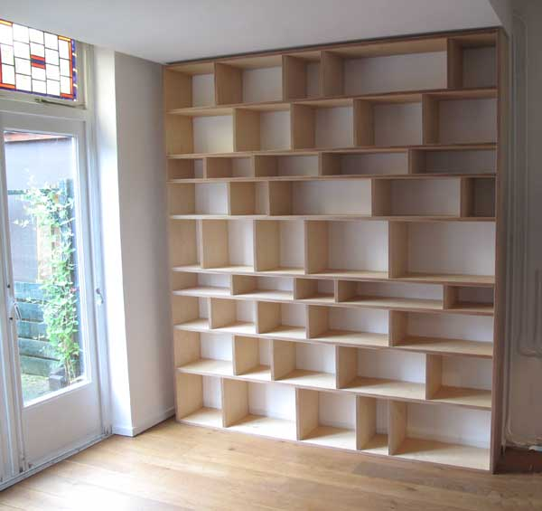 zigzag boekenkast